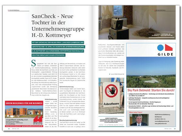 SanCheck - Neue Tochter in der Unternehmensgruppe H.-D. Kottmeyer